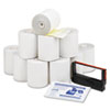 "Paper Rolls, Credit Verification Kit, 3"" x 90 ft, White/Canary, 10/Carton"