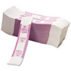Color-Coded Kraft Currency Straps, $20 Bill, $2000, Self-Adhesive, 1000/Pack