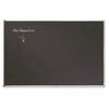 Picture of Porcelain Black Chalkboard wAluminum Frame 48 x 36 Silver