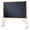 Picture of Reversible Chalkboard 72 x 48 Black Surface Oak Frame