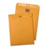 Postage Saving ClearClasp Kraft Envelopes, #55, 6 x 9, Brown Kraft, 100/Box