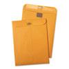 Postage Saving ClearClasp Kraft Envelopes, 9 x 12, Brown Kraft, 100/Box