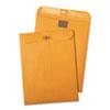 Postage Saving ClearClasp Kraft Envelopes, 10 x 13, Brown Kraft, 100/Box