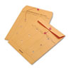 Brown Kraft String & Button Interoffice Envelope, 10 x 13, 100/Carton