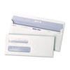 Reveal-N-Seal Double Window Check Envelope, Self-Adhesive, White,