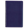 Poly Cover Notebook, 9 3/8 x 6, Ruled, Twin Wire Binding, Blue Cover, 80 Sheets