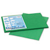 Tru-Ray Construction Paper, 76 Lbs., 12 X 18, Holiday Green, 50 Sheets/pack