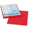 Tru-Ray Construction Paper, 76 Lbs., 9 X 12, Holiday Red, 50 Sheets/pack
