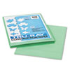 Tru-Ray Construction Paper, 76 lbs., 9 x 12, Light Green, 50 Sheets/Pack