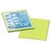 Tru-Ray Construction Paper, 76 Lbs., 9 X 12, Brilliant Lime, 50 Sheets/pack