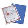 Riverside Construction Paper, 76 Lbs., 9 X 12, Dark Blue, 50 Sheets/pack