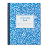 Grade School Ruled Composition Book, 9 3/4 x 7 3/4, Blue Cover, 50 Pages