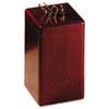 Wood Tones Paper Clip Holder, Wood, 2 1/8 x 2 1/8 x 3 1/2, Mahogany 23370