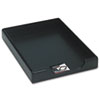 "WOOD TONES DESK TRAY, 1 SECTION, LEGAL SIZE FILES, 8.5"" X 14"", BLACK"