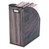Nestable Rolled Mesh Steel Jumbo Magazine File, 6 1/2 X 10 X 12 1/2, Black