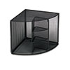 Rolodex™ Mesh Corner Desktop Shelf, Five Sections, 20 x 14 x 13, Black