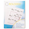 Laser/inkjet printable, copier-ready white rotary file cards. 8 1/2 x 11 sheets.