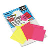 Seenotes Transparent-Film Arrow Page Flags, Neon Assorted, 60/pad, 2 Pads