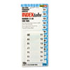 Side-Mount Self-Stick Plastic Index Tabs Nos 11-20, 1 Inch, White, 104/pack