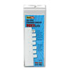 Side-Mount Self-Stick Plastic Index Tabs, 1 Inch, White, 416/pack