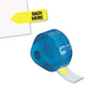 Arrow Message Page Flags In Dispenser, sign Here, Yellow, 120 Flags/dispenser