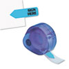 Arrow Message Page Flags In Dispenser, sign Here, Blue, 120 Flags/dispenser