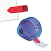 Arrow Message Page Flags In Dispenser, sign Here, Red, 120/dispenser