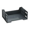 "HIGH-CAPACITY STACKABLE SIDE LOAD DESK TRAYS, 1 SECTION, LETTER SIZE FILES, 8.5"" X 11"" X 5.13"", BLACK"