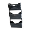 Ultra Hot File Three Pocket Wall File Set, Legal, Black