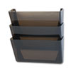 Stak-A-File Three Pocket Wall File, Letter, Smoke