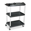 Mediamaster Three-Shelf Av Cart, 18-5/8w X 32-1/2d X 42-3/8h, Black