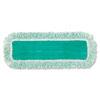 Dust Pad W/fringe, Microfiber, 18 Long, Green, 6/carton