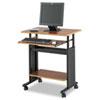 Adjustable Height Workstation, 29-1/2 X 22d X 34h, Cherry/black