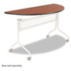 Impromptu Series Mobile Training Table Top, Half Round, 48w x 24d, Cherry