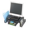 Onyx Mesh Steel Monitor Stand, 19 1/4 X 11 1/4 X 6 1/4, Black