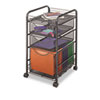 Onyx Mesh Mobile File With Two Supply Drawers, 15-1/4w X 17d X 27h, Black