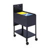 Extra-Deep Locking Mobile Tub File, 13-1/2w X 24-3/4d X 28-1/4h, Black