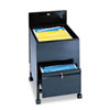 Locking Mobile Tub File With Drawer, Legal Size, 20w x 25 1/2d x 27 3/4h, Black