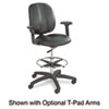 Apprentice Ii Extended Height Chair, Black Vinyl