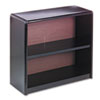 Value Mate Series Metal Bookcase, Two-Shelf, 31-3/4w x 13-1/2d x 28h, Black