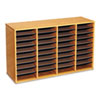Wood/laminate Literature Sorter, 36 Sections, 39 1/4 X 11 3/4 X 24, Medium Oak
