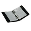 Regal Leather Business Card Binder, 120 Card Cap, 2 x 3 1/2 Cards, Black