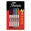 Permanent Markers, Ultra Fine Point, Assorted Colors, 5/Set 37675PP