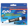 EXPO Low Odor Dry Erase Markers, Chisel Tip, Basic Assorted, 4/Set (SAN80074)