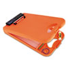 Deskmate Ii W/calculator, 1/2 Clip Cap, 8 1/2 X 12 Sheets, Hi-Vis Orange