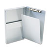 Snapak Aluminum Side-Open Forms Folder, 3/8 Clip, 5 2/3 X 9 1/2 Sheets, Silver