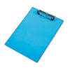 Acrylic Clipboard, 1/2 Capacity, Holds 8-1/2w X 12h, Transparent Blue