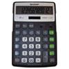 EL-R297BBK Recycled Series Calculator w/Kickstand, 12-Digit LCD