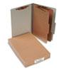 Pressboard 25-Pt Classification Folders, Legal, 6-Section, Mist Gray, 10/Box