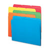 File Folders, 1/3 Cut Top Tab, Letter, Bright Assorted Colors, 100/Box